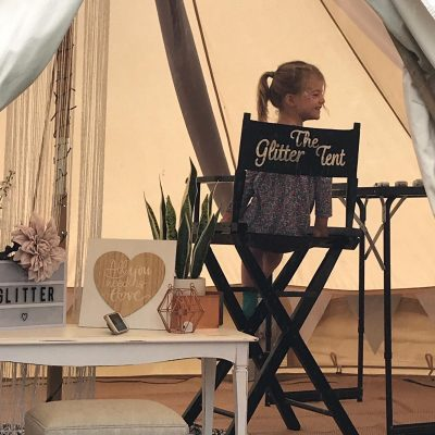 Special Glitter Tent - North Yorkshire Bell Tent Hire