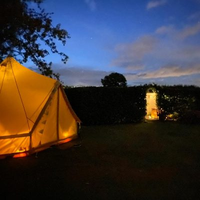 Laura Leeds nighttime tent